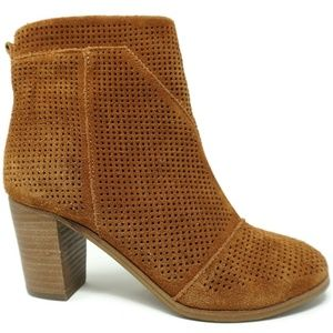 Toms Lunata Booties Perforated Cinna Size 6